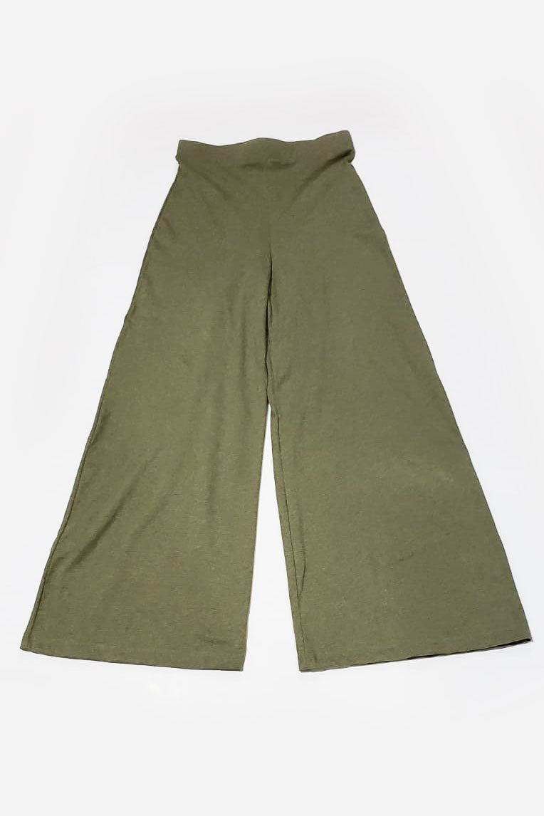 A flat image of our fair fashion Ryna pants in sage.