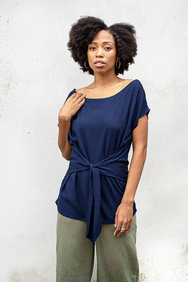 Our ethically made Sofia top is a staple for any minimalist capsule wardrobe.