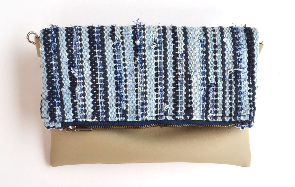 sol foldover clutch - chambray: Zero waste fair trade fashion by tonle