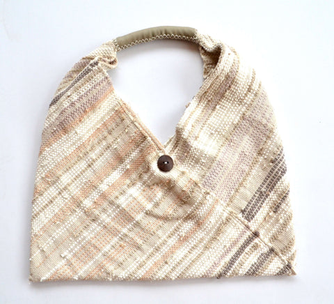 sol triangle tote - natural: Zero waste fair trade fashion by tonle
