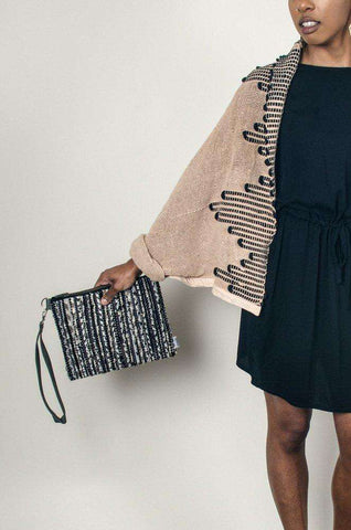 sol wristlet - granite: Zero waste fair trade fashion by tonle