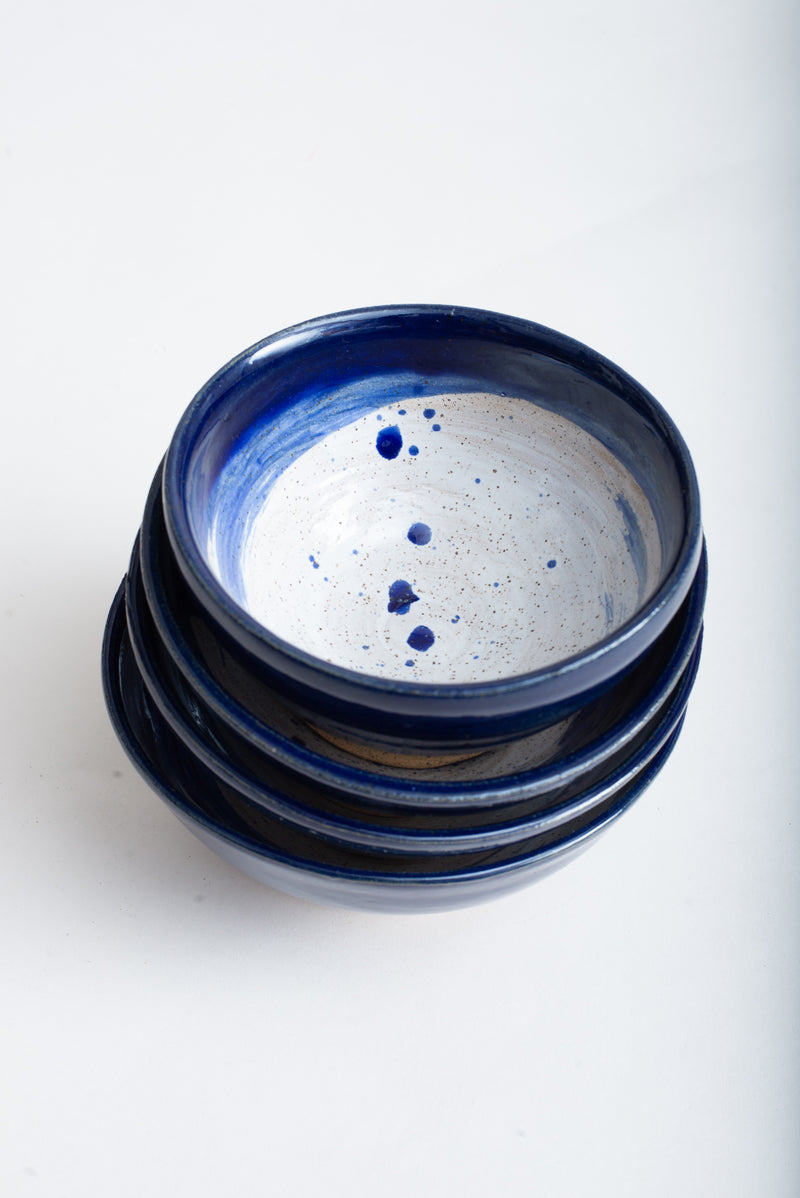 This image shows the handmade ceramic bowls stacked.