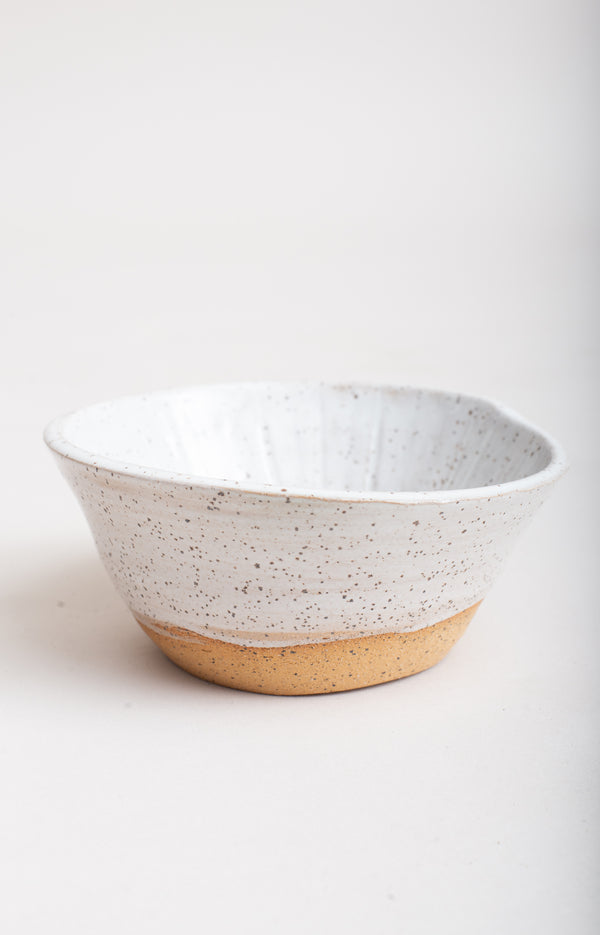 This handmade ceramic bowl is a one-of-a-kind piece.