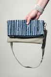 sol foldover clutch - chambray