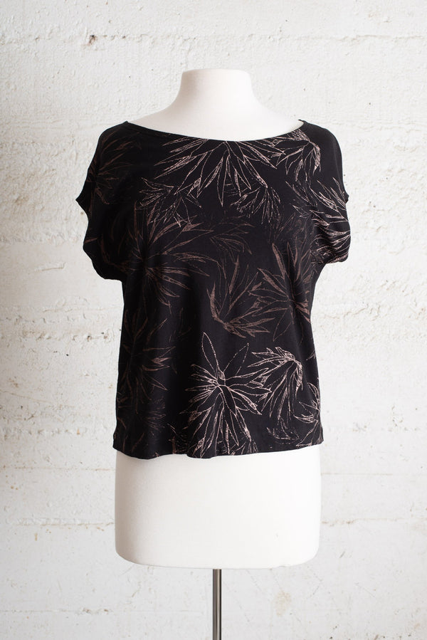 keang top black with cactus - open closet - small - rarely worn