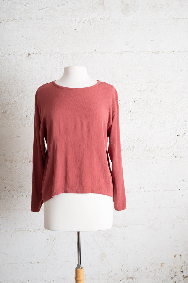 relaxed basic top - pink clay - open closet - small - sample, rarely worn
