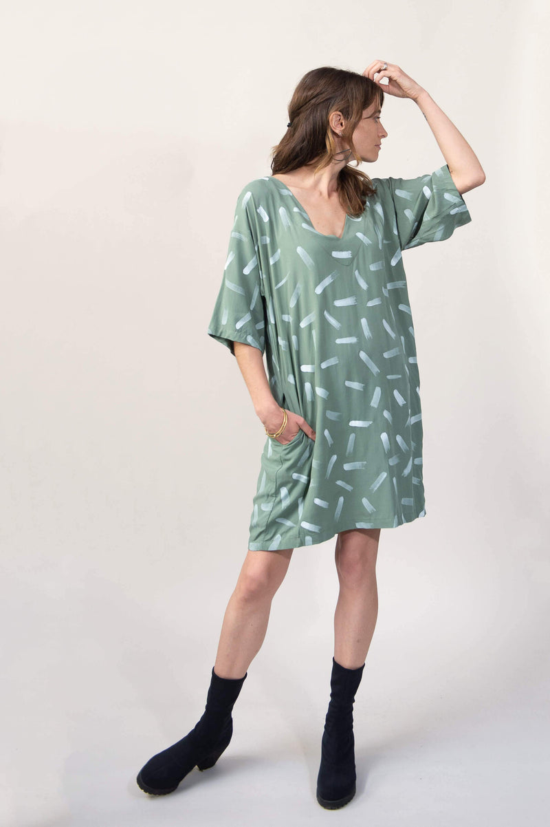 veha dress with dash print