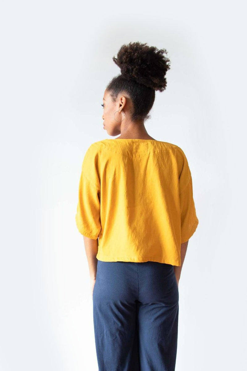 A back view of the sustainably made Veha top.