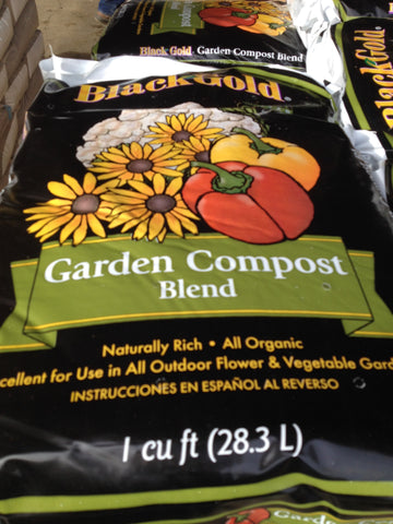 Black Gold Organic Compost   1 cf