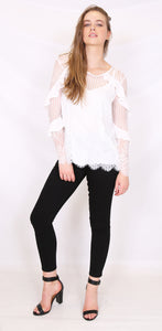 Living Doll - Abbey Blouse (Ivory)