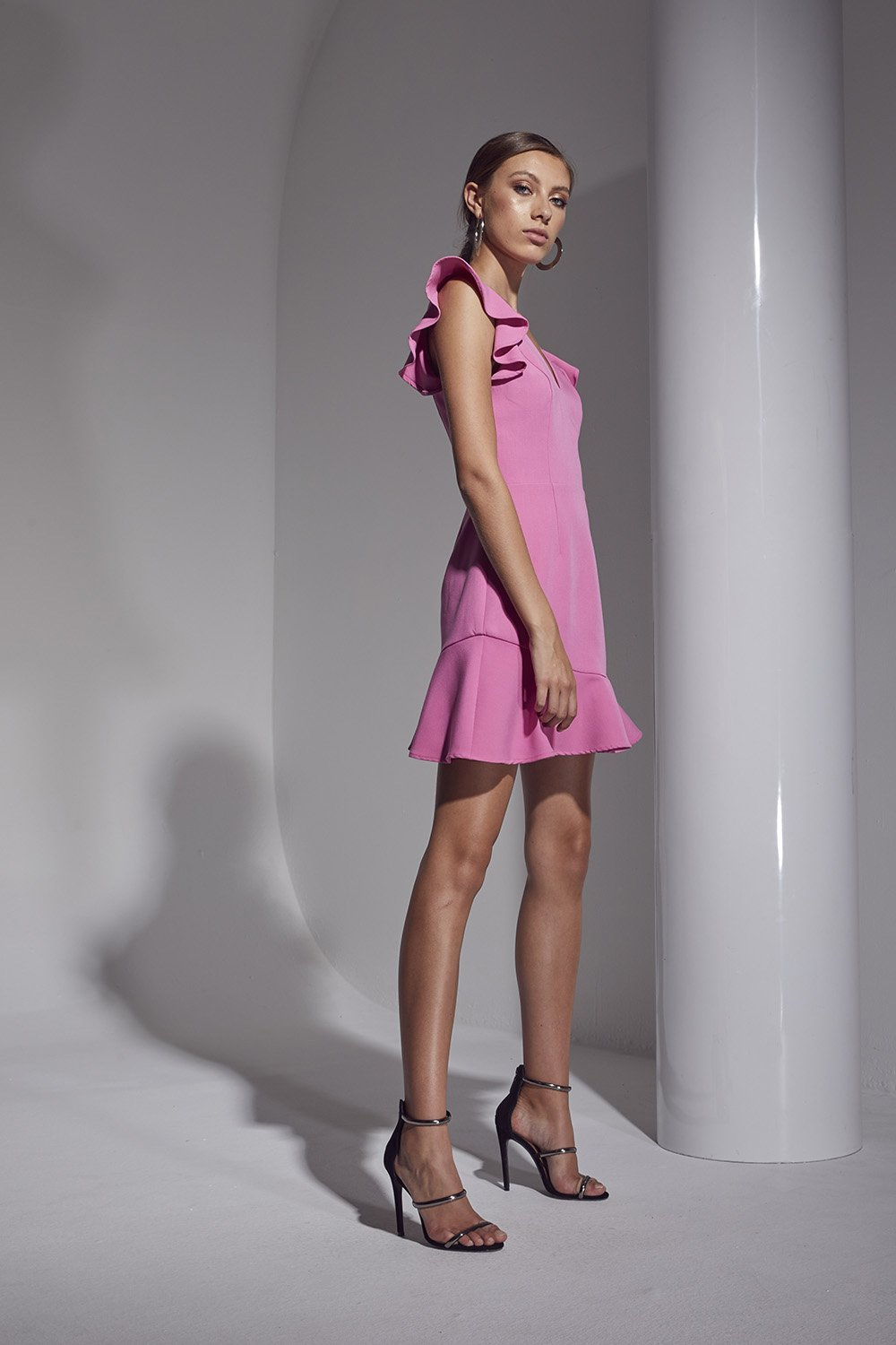 Shilla - Allure Mini Dress (Fuchsia)