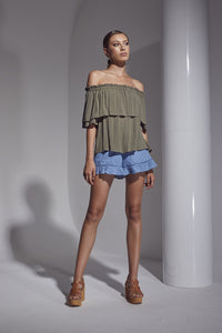 Shilla - Allure O/S Top (Khaki)