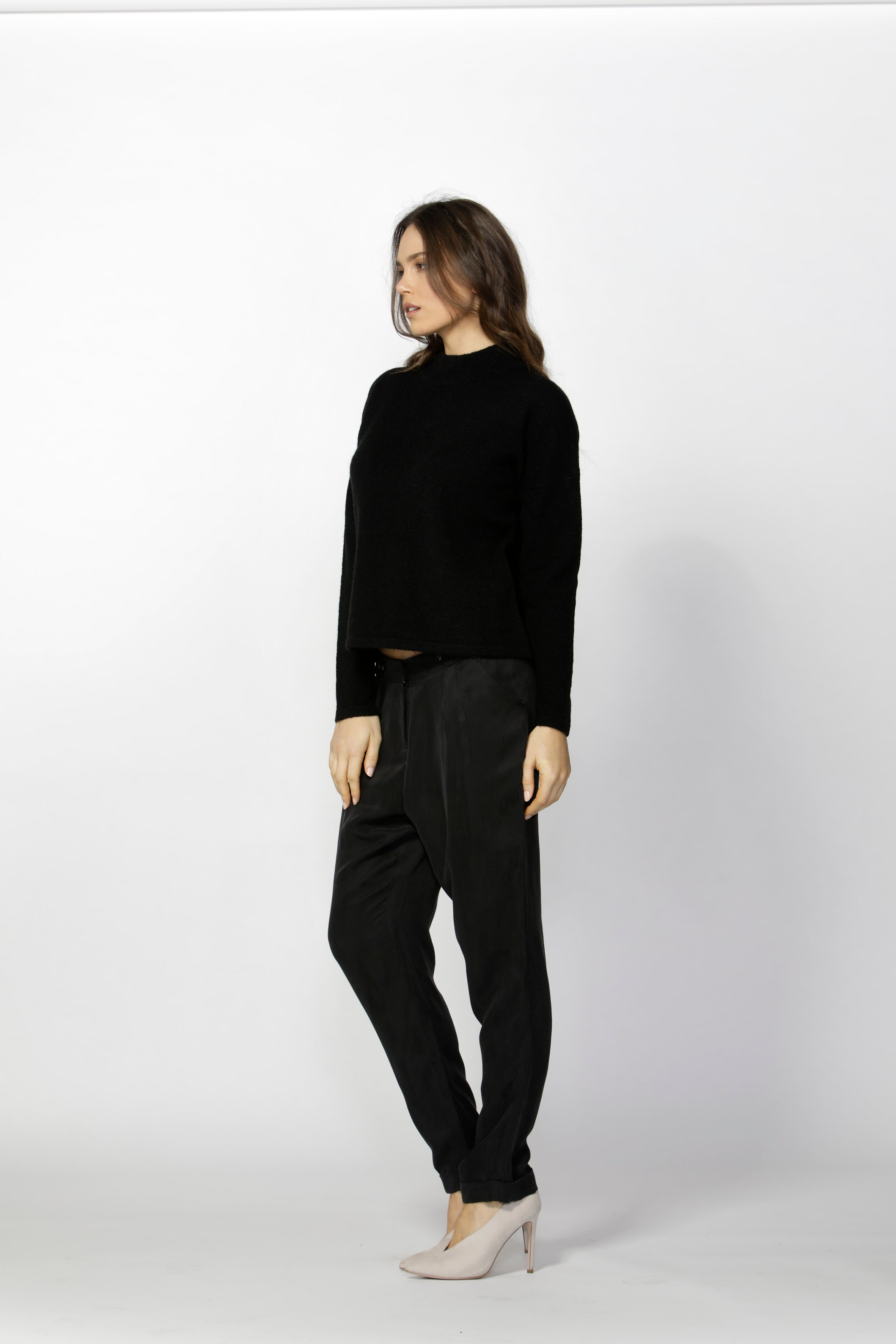 Fate + Becker - Aurelie Tapered Tailored Pant (Black)
