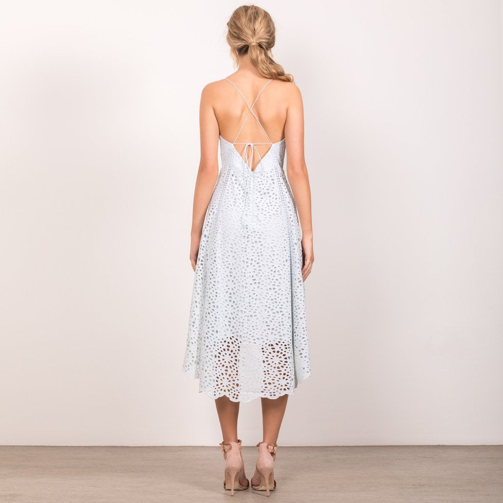 Wish- Be the One Midi Dress (Powder Blue)