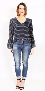 Wite - Cornwell Blouse (Navy Stripe)