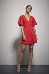 Shilla - Exotic Wing Slv Dress (Scarlet)