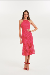 Cooper Street - Glimmer HN Lace Dress (Brilliant Pink)