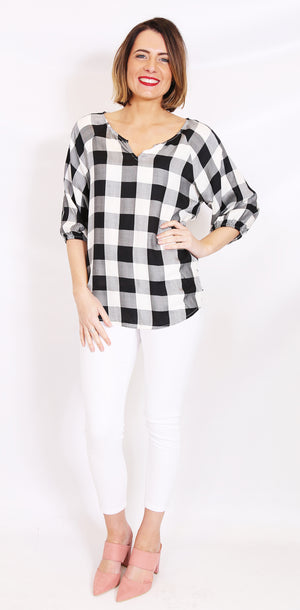 Wite - Heath Blouse (Check)