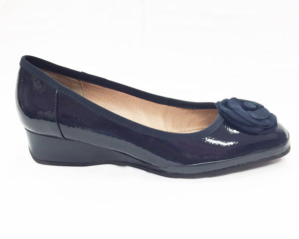 Hush Puppies- Wilda (Navy Patent)