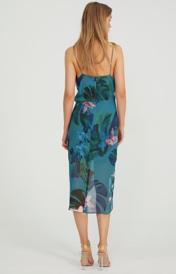 Cooper Street - Lagoon Drape Dress (Print Dark)