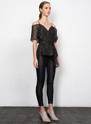 Wish - Need You Blouse (Black/Gold Speck)