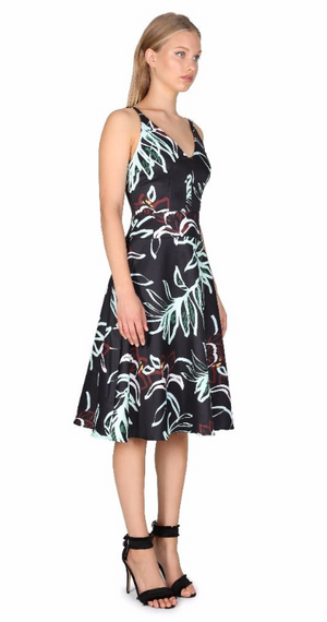 Cooper Street- Rainforest Fit and Flare Dress (Print)