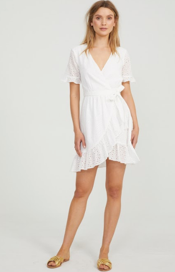 Cooper Street - Riverside Tie Mini Dress (White)