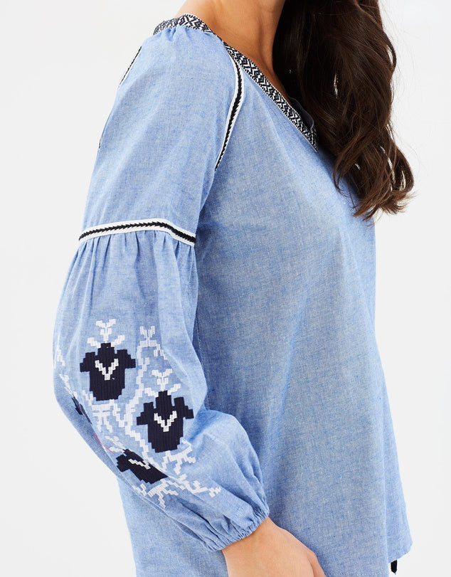 Wite - Sail Away Blouse (Oxford Blue)