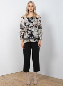 Wish - Spring Fling Blouse (Black)