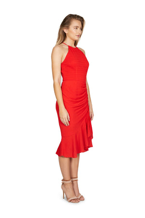 Cooper Street - Ti Amo Drape Dress (Poppy Red)