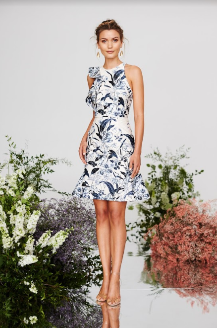 Cooper Street - Vanilla HN Fitted Dress (Print Light)