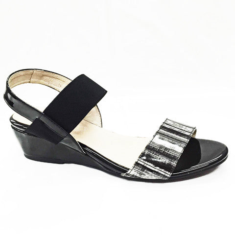 Via Nova- Jarman (Black Patent/Print)