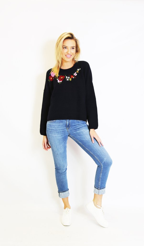 Living Doll - Winter Garden Knit (Navy)
