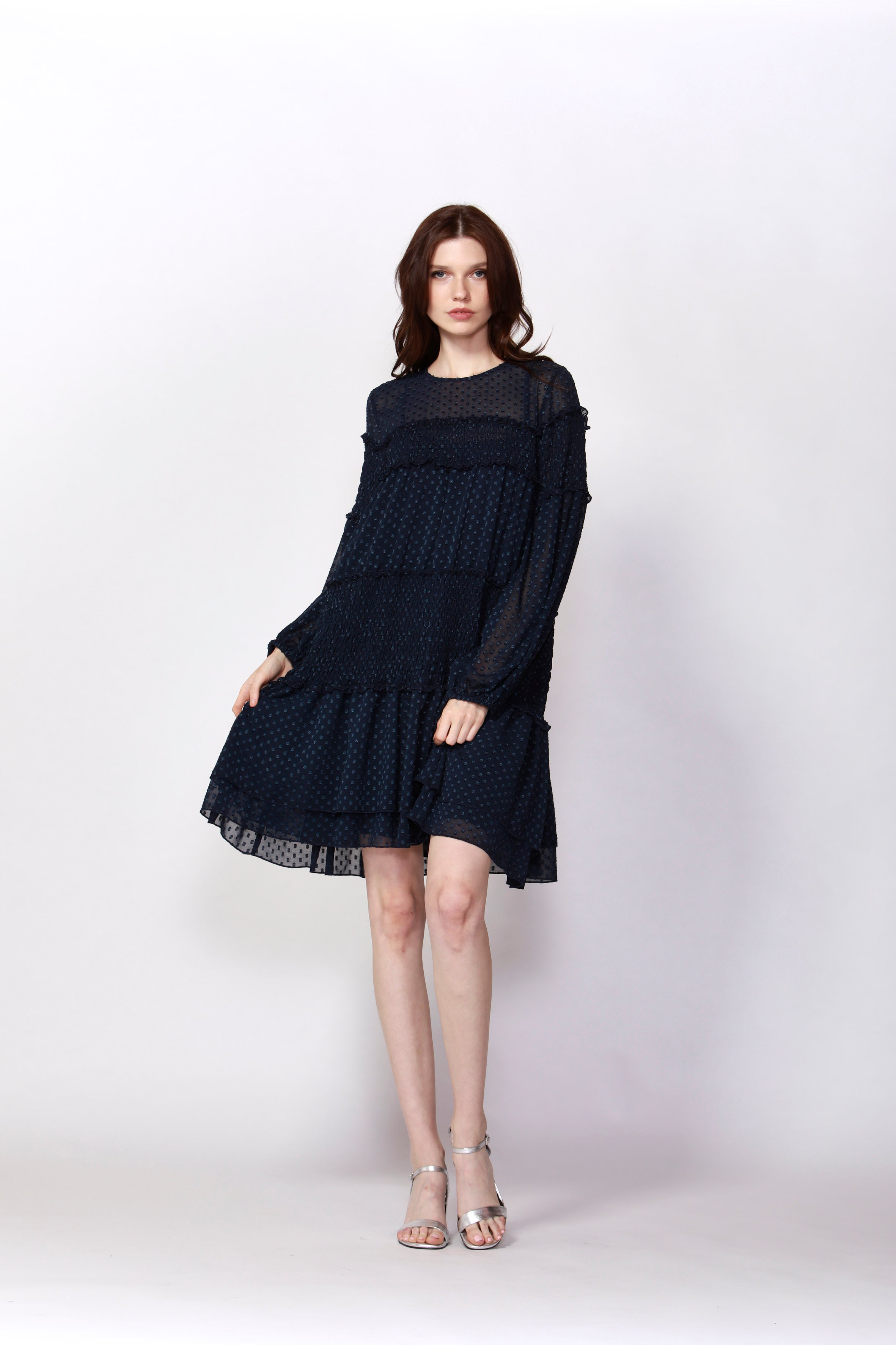 Fate and Becker - Woodlands Ruched Dress (Blueberry)