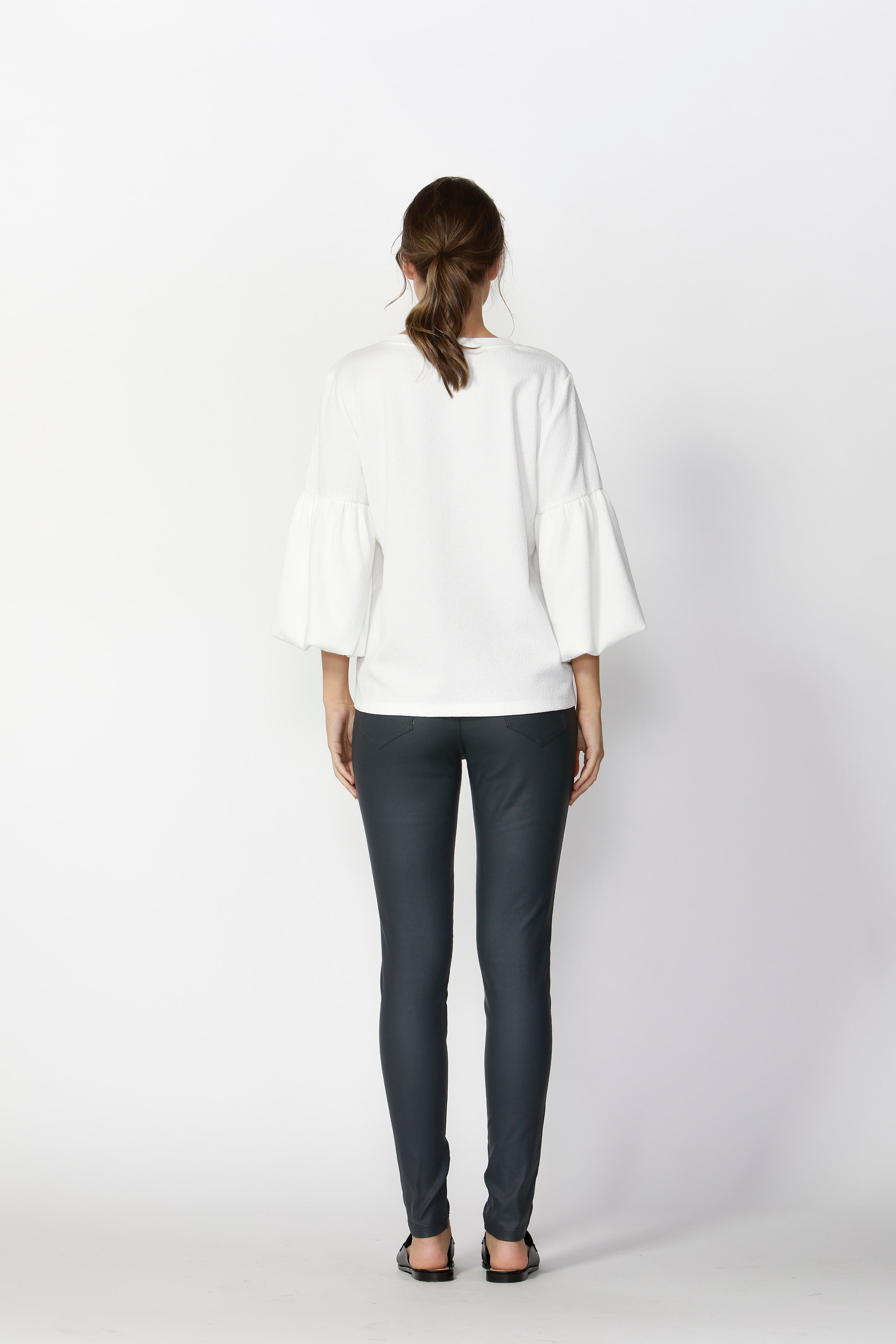 Fate & Becker - Grecia Textured Top (Snow White)