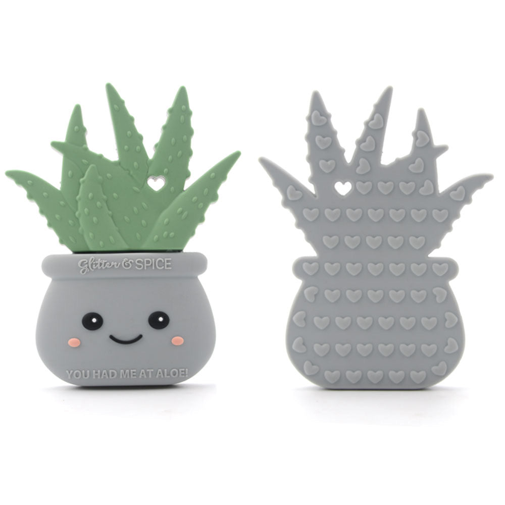 Aloe Plant Silicone Teether
