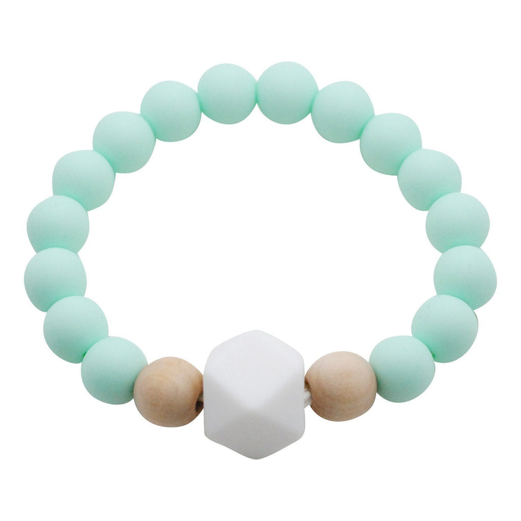 Adult Silicone Teething Bracelet - Gemstone in Cool Mint Adult Teething Bracelets Glitter & Spice