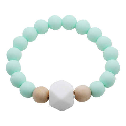 Adult Silicone Teething Bracelet - Gemstone in Cool Mint - Glitter & Spice