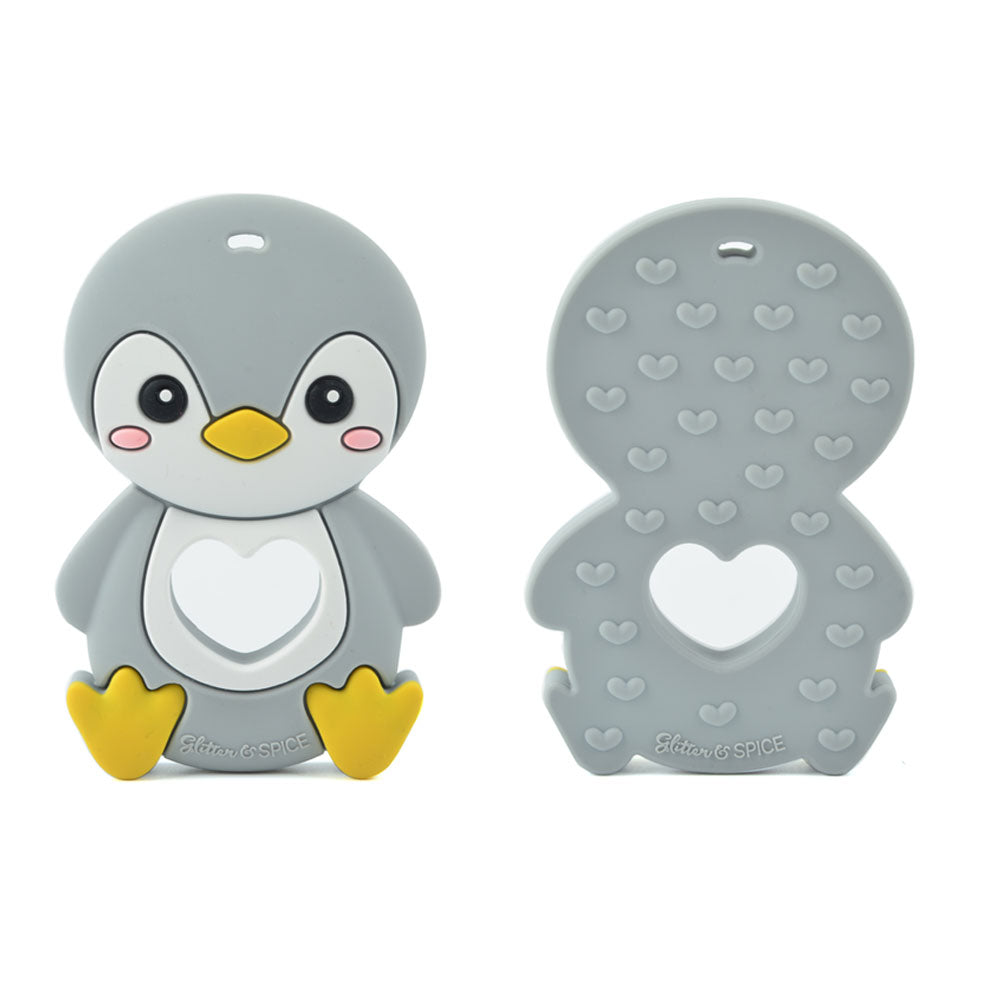 Penguin Silicone Teether - Glitter & Spice