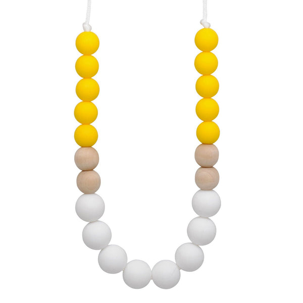 Silicone Teething Necklace - Daisy - Glitter & Spice