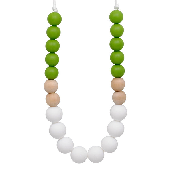 Silicone Teething Necklace - Kelly - Glitter & Spice