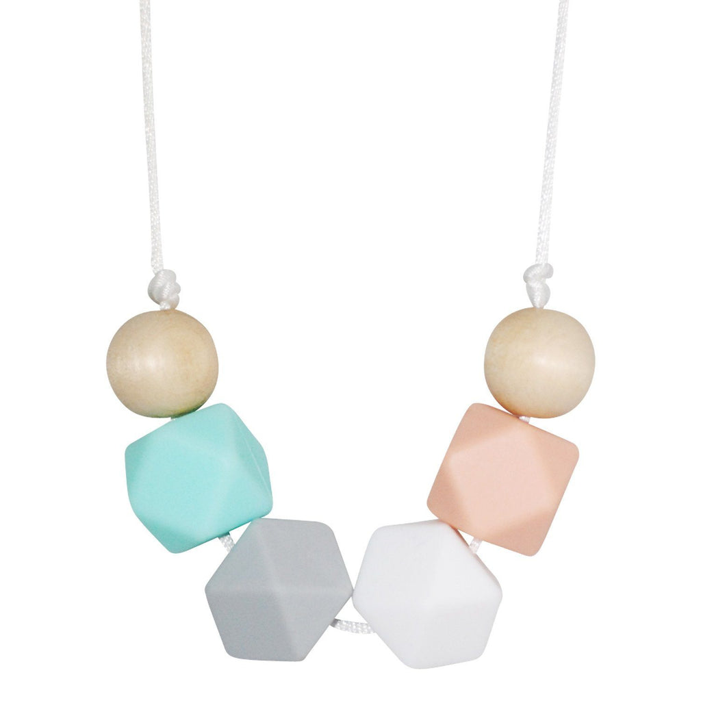 Silicone Teething Necklace - Clara Geometric Necklace Collection Glitter & Spice