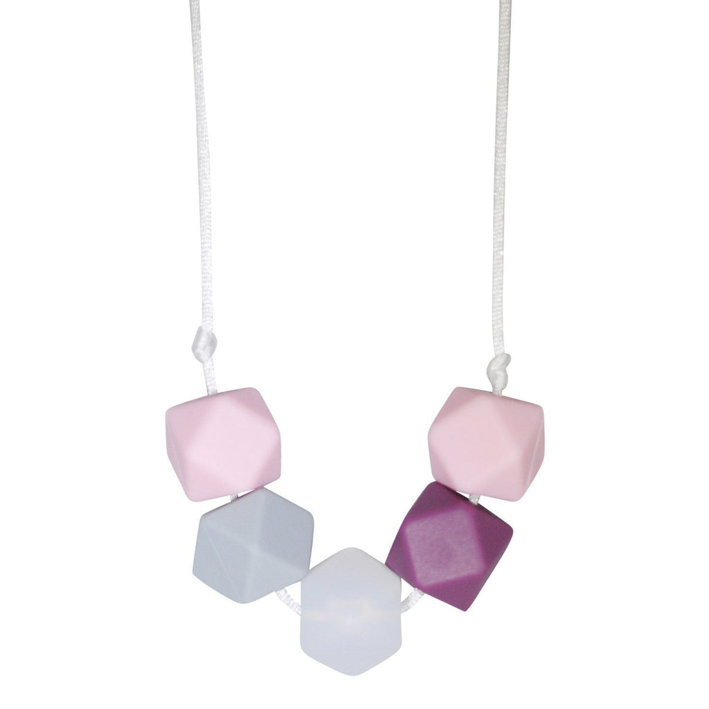 Silicone Teething Necklace - Daniela Geometric Necklace Collection Glitter & Spice