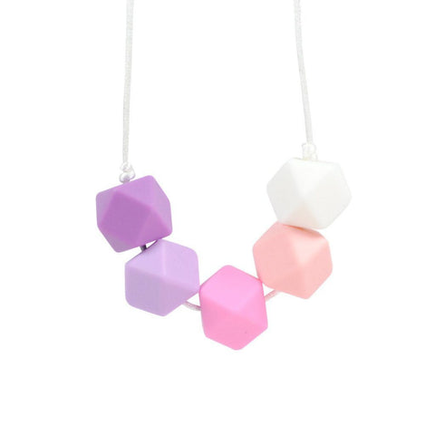 Silicone Teething Necklace - Esme - Glitter & Spice