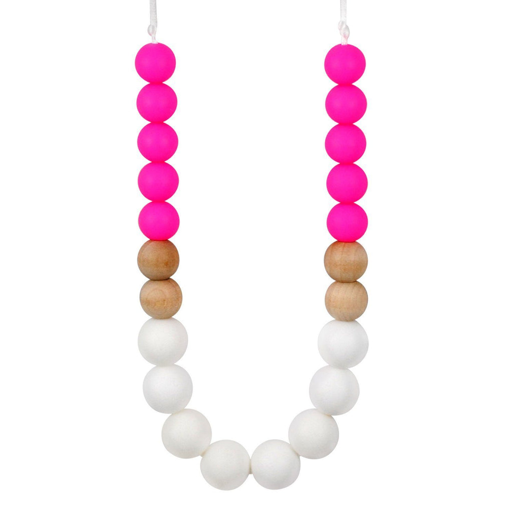 Silicone Teething Necklace - Kalia Gradient Necklace Collection Glitter & Spice