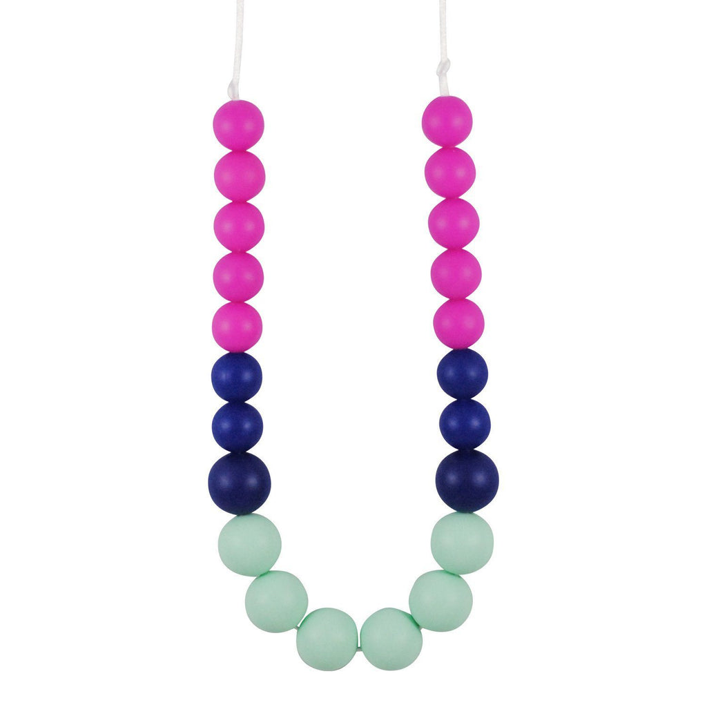 Silicone Teething Necklace - Lauren Gradient Necklace Collection Glitter & Spice