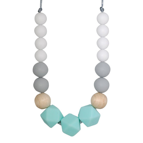 Silicone Teething Necklace - Nelly Gradient Necklace Collection Glitter & Spice