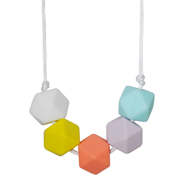 Silicone Teething Necklace - Poppy - Glitter & Spice