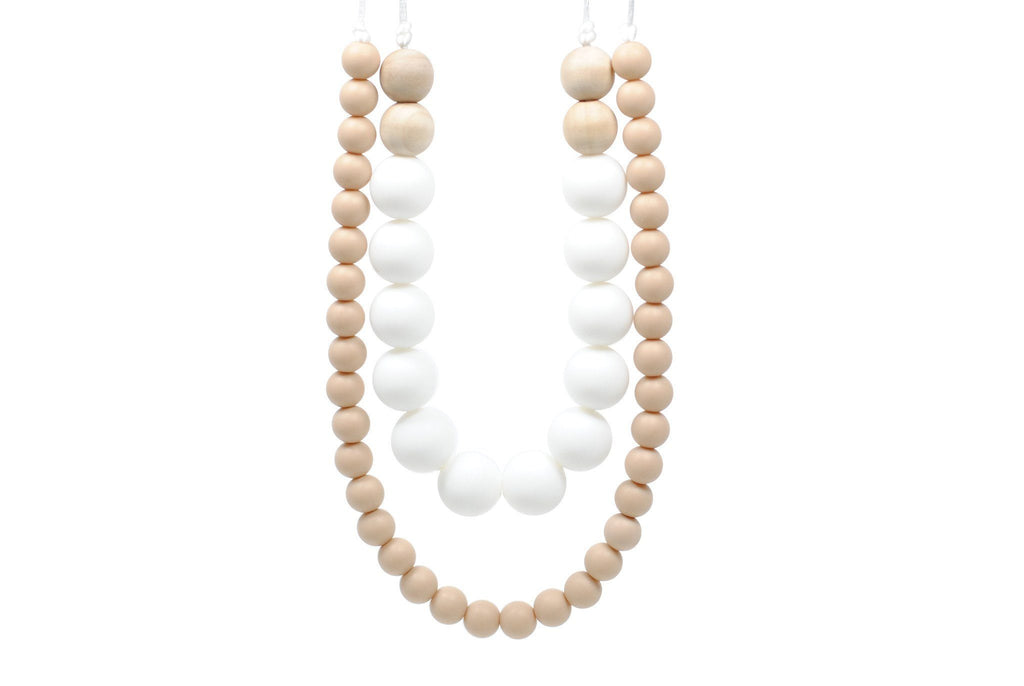 Silicone Teething Necklace - Tanner Statement Necklace Collection Glitter & Spice