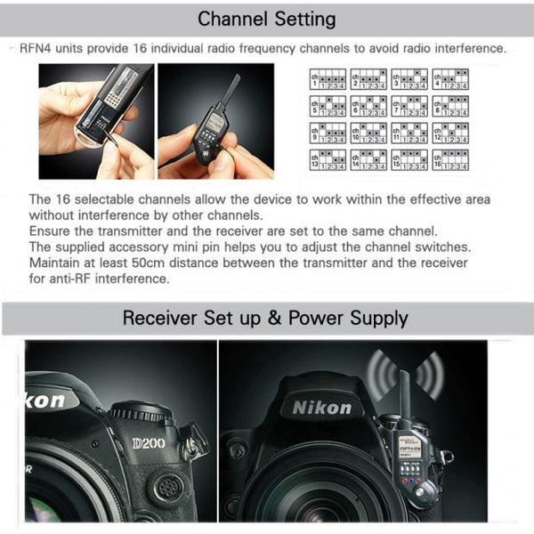 SMDV RFN-4s (3rd Gen) Wireless Remote Shutter Release for select Nikon DSLRs